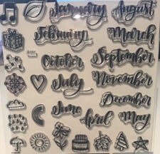 Used Discontinued Close To My Heart Stamp Set-Through The Year S1711