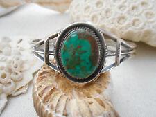 Vintage Southwest Sterling Eagle Sterling Turquoise Cuff Bracelet   10818