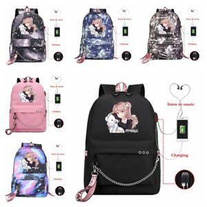 Dangan Ronpa Junko Enoshima Backpack Schoolbags Boys Girls Shoulder Travel Bags