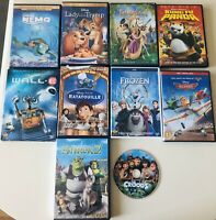 Disney Pixar DVD Lot Shrek Frozen Kung Fu Panda Nemo WallE Planes Tangled Tramp