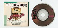 Vintage THE GRASS ROOTS 3-INCH cd-maxi ©1988 MCA 4-track LET'S LIVE FOR TODAY