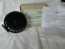 """Vintage Centrepin Reel  5 1/2"""" Leeds Trotting Reel  boxed by Lewtham Products"""