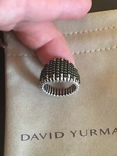 "DAVID YURMAN NEW Sterling Silver 20mm ""Tempo"" Ring with Spinel  8"
