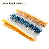600PCS Metallschicht Widerstände 1/4 0.25W 10Ω-1M Metallfilm Resistor Widerstand