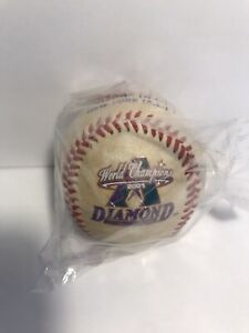 2001 PEPSI / ARIZONA DIAMONDBACKS WORLD CHAMPIONS PROMO SOUVENIR BASEBALL SEALED