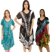 Caroline Morgan Casual Summer Beach Tie Dye Dress Gypsy Dresses Plus Size