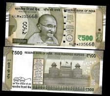 "Rs.500/- Urjit Patel  Star Note ""E"" Inset  Prefix 6LM  2016 - UNC  LATEST"