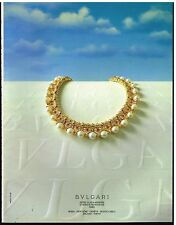 Publicité Advertising 1987 Les Bijoux BULGARI