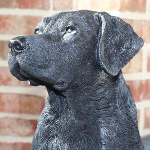 Deko Labrador schwarz Gartenfigur Hund Skulptur