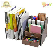 Pag Wood Desk Organizer Mail Holder Office Supplies and Accessories Storage