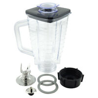 5-Cup Square Top 7-Piece Plastic Jar Replacement Set with Fusion Blade for Oster