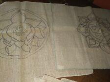 28 X 21 & 28 X 23 rug hooking patterns on burlap
