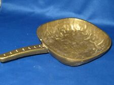 "5 3/4"" x 5 3/4"" German Solid Engraved Brass Serving Pot/Bowl w/Handle 2 LBS 5 OZ"