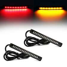 2x Flexible 17 LED DRL Strip Tail Light Turn Signal Indicator Brake Motorcycle
