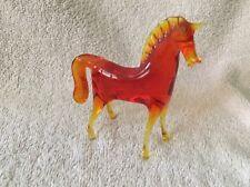 VINTAGE STUDIO ART GLASS AMBER HORSE, MURANO?