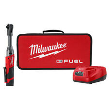 "Milwaukee 2560-21 M12 Fuel 3/8"" Extended Reach Ratchet Kit Brand New!"