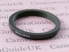 49mm to 43mm 49mm-43mm Stepping Step Down Filter Ring Adapter