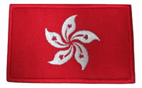 Hong Kong Flag Embroidered Hook Loop Patch