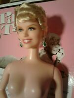 Pillow Talk Barbie Doris Day Doll Pink Label With Earrings & Stand Fresh DEBOXED