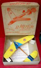 Météor; Avion de France; avion à réaction; planeur; avion à moteur élastique