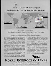 ROYAL INTEROCEAN LINES DUTCH SHIPS ROUND-WORLD ON RUYS & TEGELBERG 1960 AD