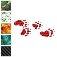 Bear Tracks Decal Sticker Choose Pattern + Size #94