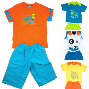 Hering Boys 100% Brazilian Premium Two-Piece Coordinating Tshirt and Short Sets