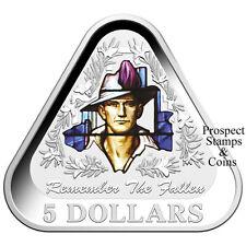 2016 Remember the Fallen Triangular Five Dollar Silver Proof Australian Coin