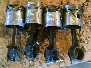 Allis Chalmers WD45 tractor AC engine motor Power Crater pistons rings main rods