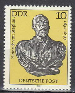 Germany DDR 1981 MNH Sc 2157 Heinrich von Stephan founder of UPU