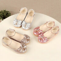 ChildrenInfant Kids Baby Girls Bowknot Crystal Dance Shallow Single Party Shoes