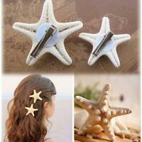2x Women Girls Elegant Beauty Starfish Sea Star Hairpin Hair Clip Lovely Decors