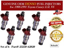 6 Fuel Injectors OEM Denso for 1988-1991 Toyota Camry 2.5L V6 #23250-62020
