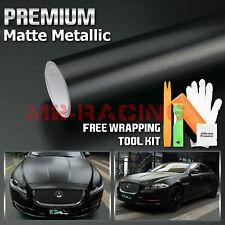 Matte Metallic Satin Pearl Black Vinyl Wrap Sticker Bubble Free Film Decal Diy