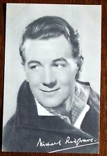 Old  black and white film star postcard - Michael Redgrave