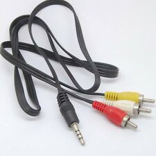 3.5mm to 3 RCA AV A/V TV Video Cable Cord For MP3 MP4 PMP Media Player