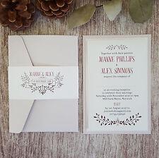 SAMPLE ◦ WOODLAND Pocketfold Wedding Invitation ◦ Autumn ◦ Country Theme