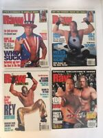 Lot of 4 WWF Raw Magazine 2002 Oct Nov Dec Holiday Angle RVD Mysterio Rock WWE