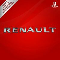 Chrome Renault Badge Monogram Emblem for Renault Cars
