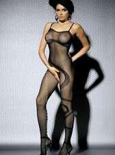 Sexy Netz-Catsuit mit Schlangenmuster- N104 - OBSESSIVE Dessous Farbe: Schwarz