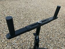 More details for custom speaker stand t-bar fitting for lighting with 35mm truss clamps (pair)