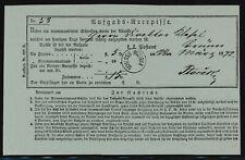 Österreich 1872-SCHLOSS ROZINKA (ohne Datum!), klar auf Aufgabe-Recepisse