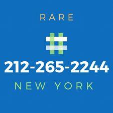 212 Area Code Phone Number - Rare Vanity Number [265-2244]