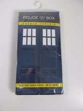 Dr. Who Time Travel Police Box Shower Curtain Geek Fuel Exclusive NEW