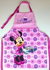 NEW Disney Minnie Mouse Simply Delicious Kids Children's Cooking & Baking Apron
