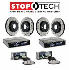 NEW Toyota Tundra Front and Rear StopTech Drilled Brake Rotors Fleet Pads Kit