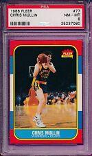 Chris Mullin Warriors HoF 1986-87 Fleer 77 Rookie Card rC PSA 8 COMBINE SHIPPING