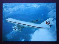 POSTCARD JAPAN AIR LINES BOEING B747-LR JET