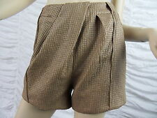 SHEIKE camel designer structured dress shorts size 8 BNWT