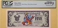 2003D $5 Goofy Disney Dollar Graded By PCGS Gem New 65PPQ D00005702A